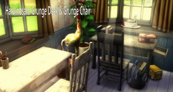 Sims 4 Grunge Desk & Chair at Haruinosato's CC