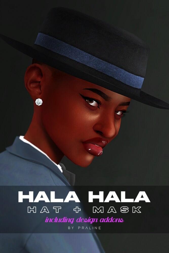 Sims 4 Hala Hala hat + mask at Praline Sims