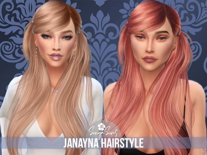 Sims 4 Janayna & Avery hairs at Sonya Sims