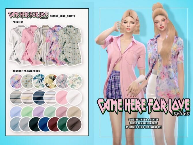 Sims 4 Skirts and shirts at NEWEN
