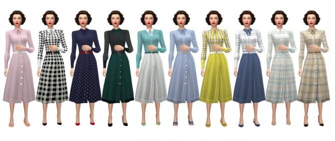 Sims 4 GP07 COLLARED DRESS at Sims4Sue