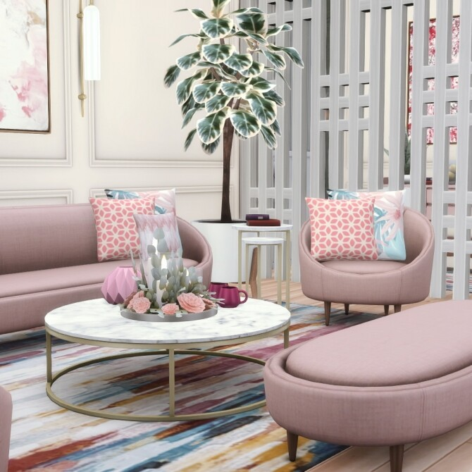 Sims 4 Ether Curved Seating Four New Options at Simsational Designs