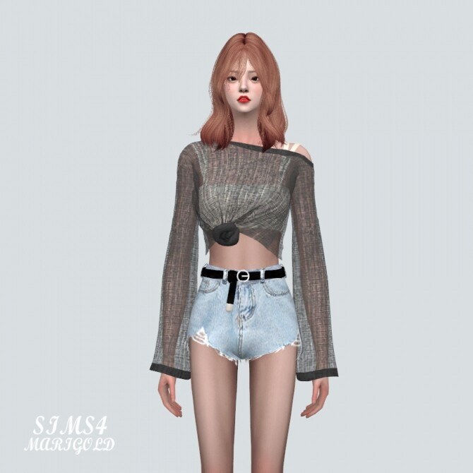 See through Knit With Sleeveless at Marigold image 1742 670x670 Sims 4 Updates