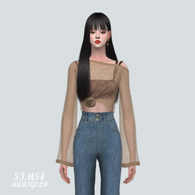 Sims 4 See through Knit With Sleeveless at Marigold