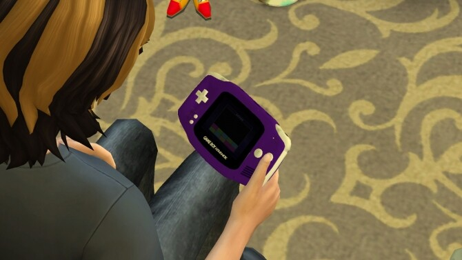Sims 4 Usable Nintendo Game Boy Advance by LightningBolt at Mod The Sims