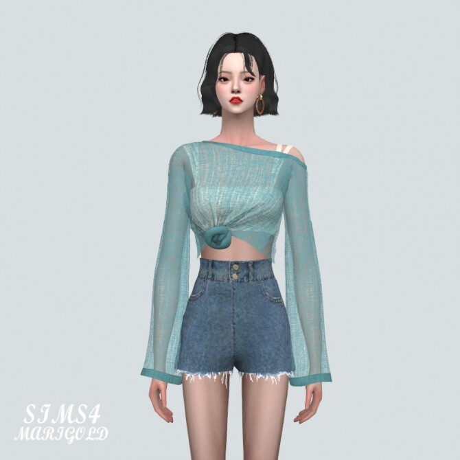 See through Knit With Sleeveless at Marigold image 1761 670x670 Sims 4 Updates