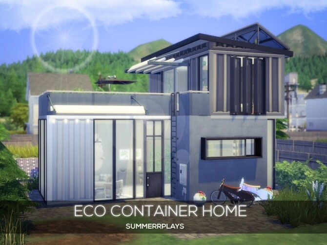 Sims 4 Eco Container Home by Summerr Plays at TSR