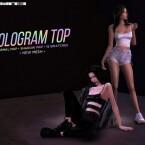 Hologram Tank Top by Alexa Catt