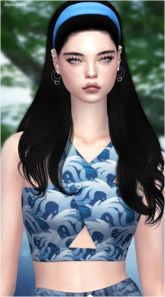 Sims 4 TOP Cross Strap at Jenni Sims