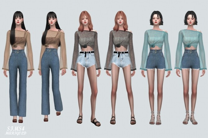 See through Knit With Sleeveless at Marigold image 178 670x445 Sims 4 Updates
