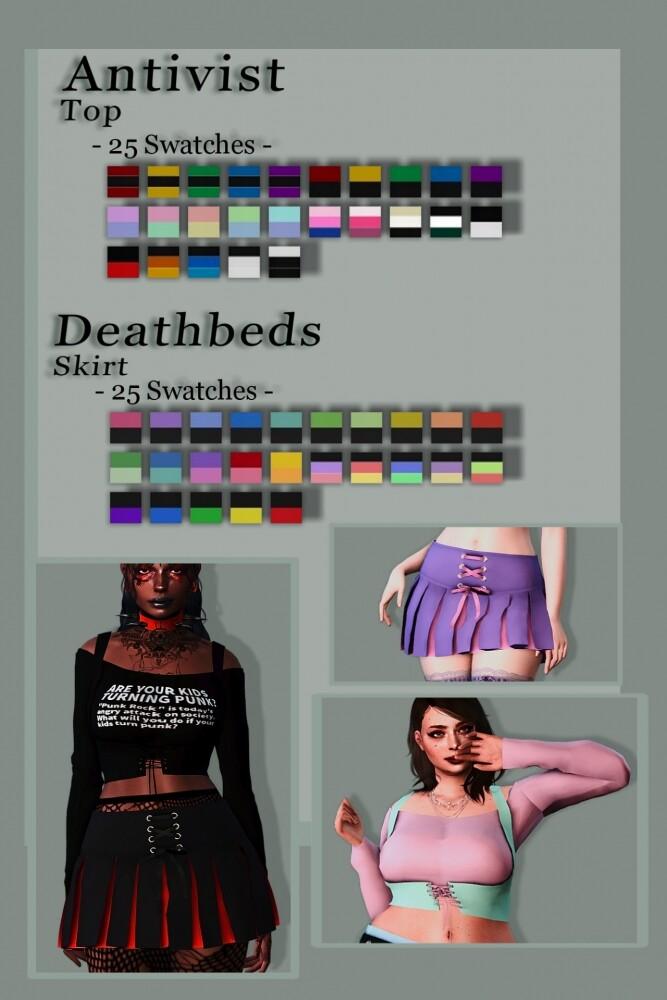 Sims 4 Dress, top, skirt & eyeshadow at EvellSims