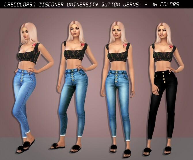 Sims 4 Button Jeans at Rimshard Shop