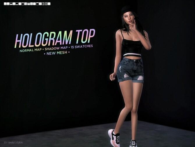 Sims 4 Hologram Tank Top by Alexa Catt at TSR