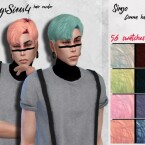 Simjo Comma male hair recolor by HoneysSims4