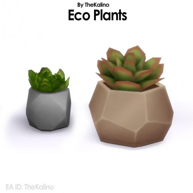 Sims 4 Small CC Pack: Eco Plants at Kalino