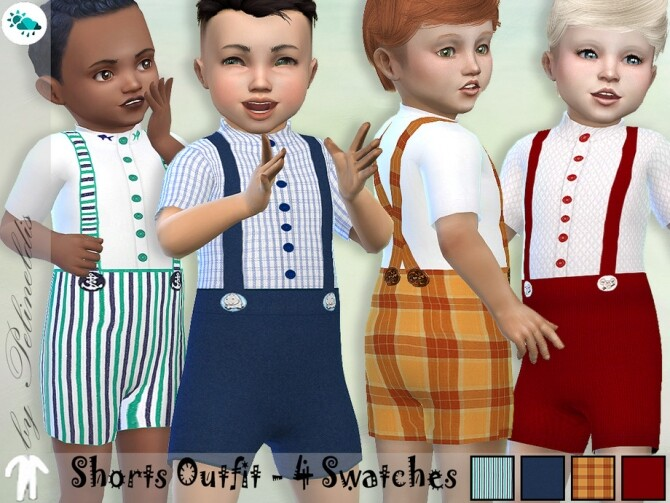 Sims 4 Shorts Outfit by Pelineldis at TSR