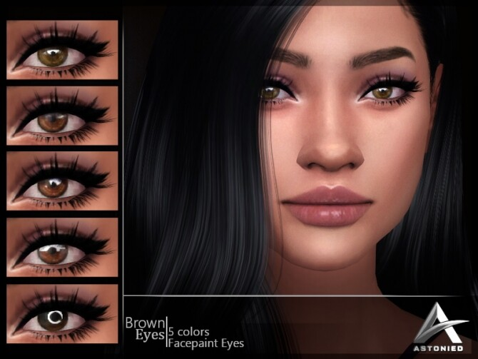 Sims 4 Brown Eyes by Astonied at TSR