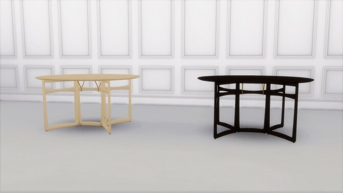 Sims 4 DROP LEAF TABLE HM6 at Meinkatz Creations