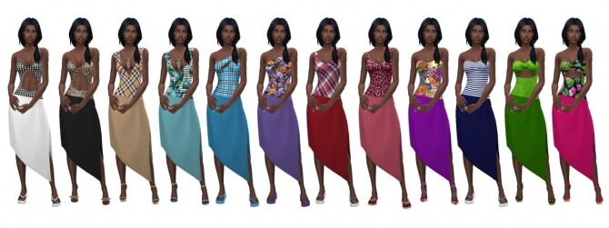 Sims 4 EP07 SWIMSUIT & SARONG at Sims4Sue