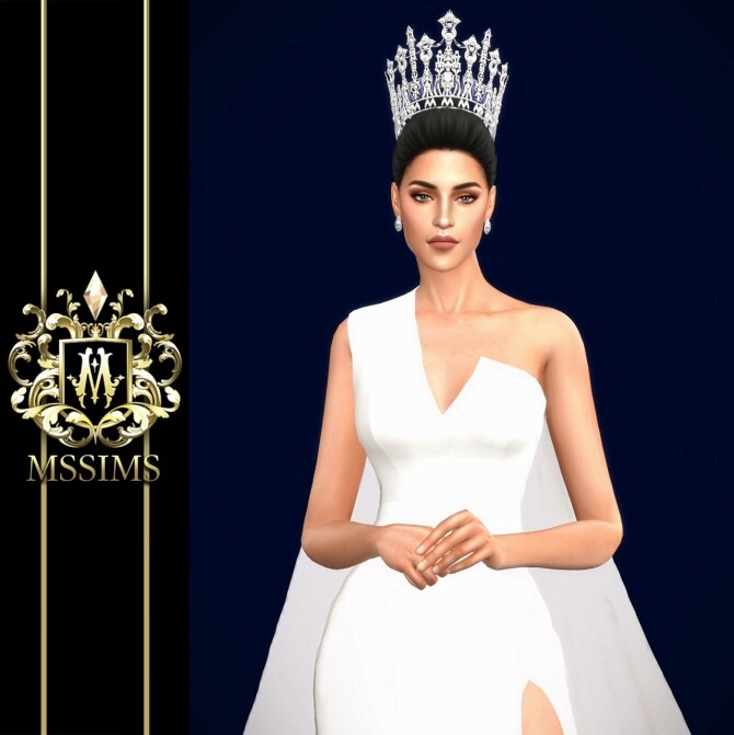 Sims 4 MISS UNIVERSE THAILAND 2019 CROWN at MSSIMS