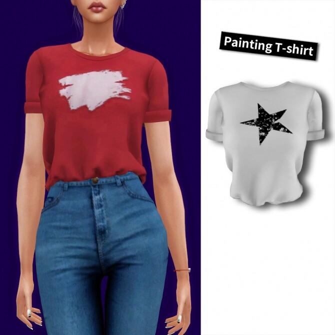 Painting t shirt at L.Sim image 1916 670x670 Sims 4 Updates