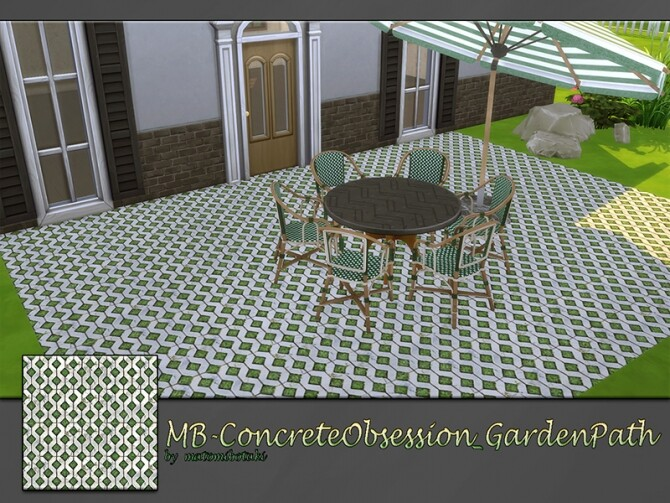 MB Concrete Obsession Garden Path by matomibotaki at TSR image 1919 670x503 Sims 4 Updates