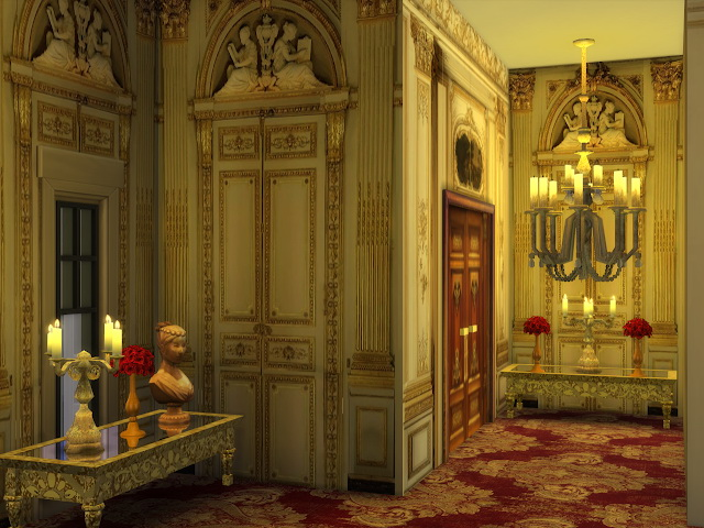 Sims 4 Golden Palace Walls at Anna Quinn Stories