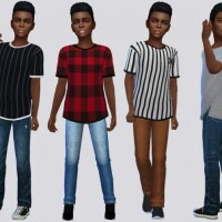 X Side Slit Tee Shirt Kids by McLayneSims