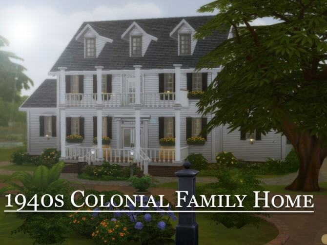 1940s Colonial Family Home by vmr394 at TSR image 1950 670x503 Sims 4 Updates