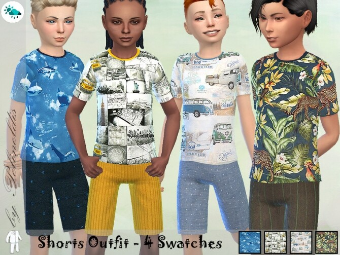 Sims 4 Boys Summer Outfit by Pelineldis at TSR