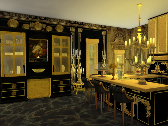 Black Golden Kitchen