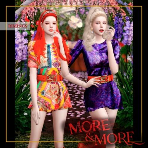 Bohemian Short Dress by RIMINGs