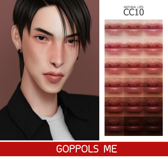 Sims 4 GPME GOLD Natural Lips CC10 at GOPPOLS Me