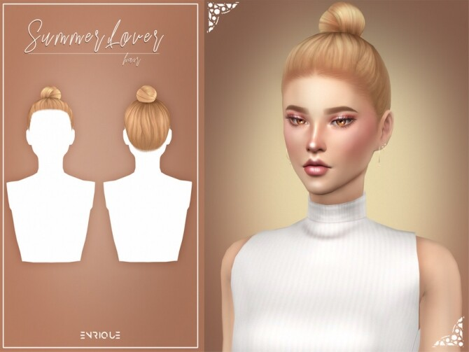 Sims 4 Summer Lover Hairstyle by Enriques4 at TSR