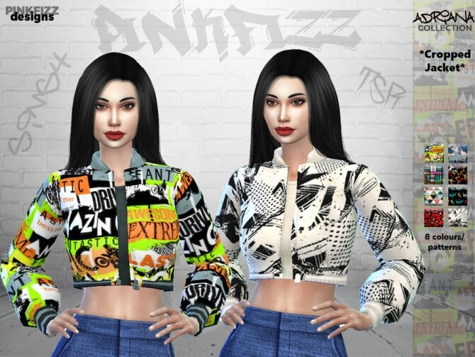 Sims 4 Adriana Jacket PF110 by Pinkfizzzzz at TSR