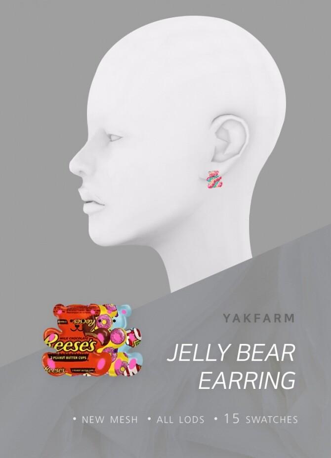 Sims 4 Jelly Bear Earrings at Yakfarm