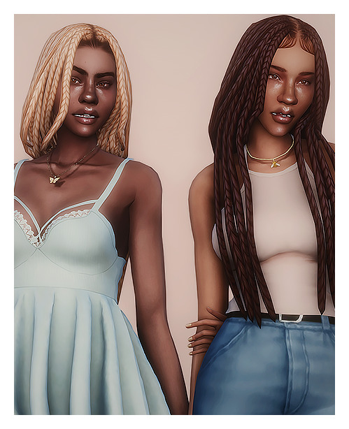 Sims 4 Banana and Hazelnut hair recolors at GhostBouquet