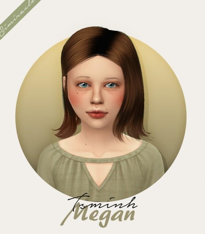 Sims 4 Tsminh Megan Hair Kids Version at Simiracle
