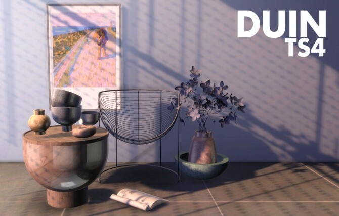 Sims 4 Recolors of Sunday's & Raventons Dune set and Mxims posters at Riekus13
