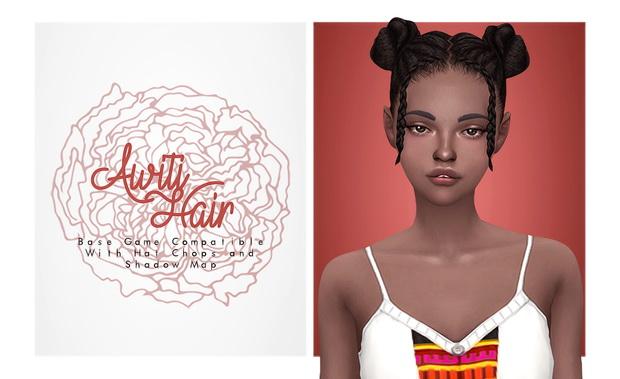 Awiti Hair buns with lil braids