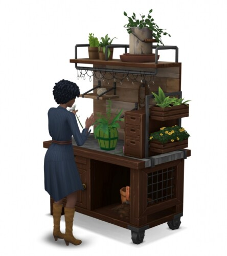 Eco-living arranging flower table and water collector