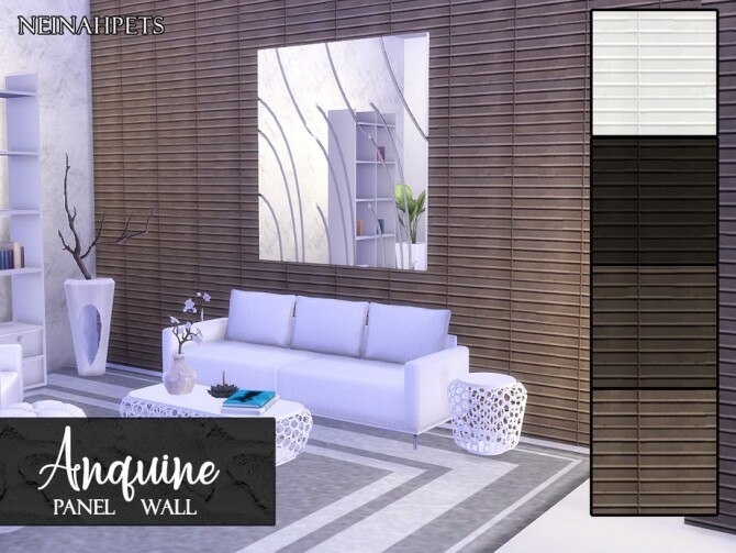 Anquine Panel Wall by neinahpets at TSR image 2130 670x503 Sims 4 Updates