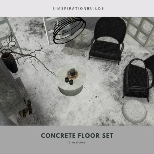 Concrete floor set