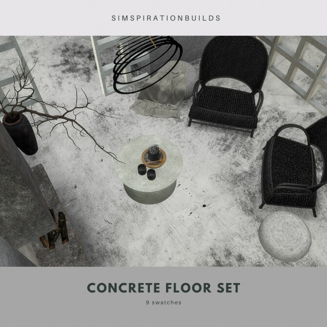 Concrete floor set at Simspiration Builds image 21311 670x670 Sims 4 Updates