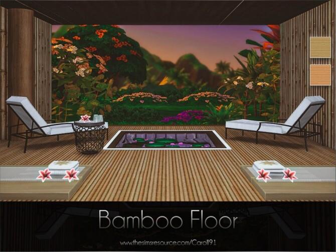 Sims 4 Bamboo Floor by Caroll91 at TSR