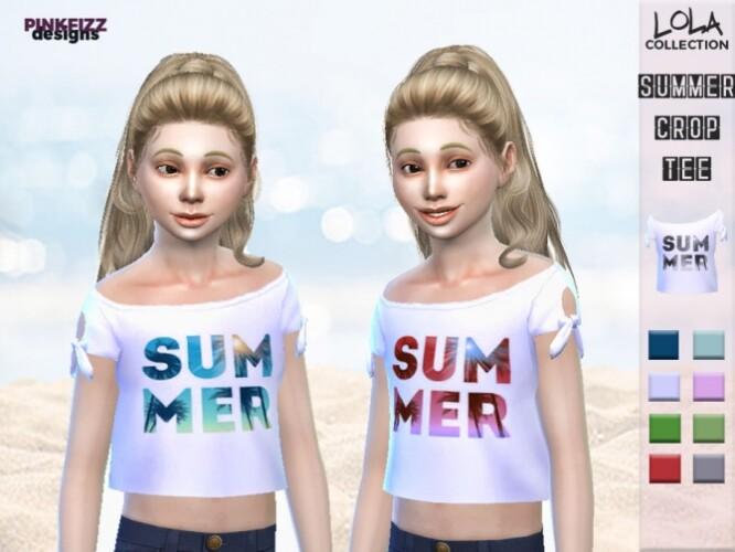 Lola Summer Crop Tee PF119 by Pinkfizzzzz