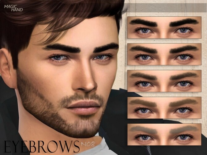 Sims 4 Eyebrows N08 by MagicHand at TSR