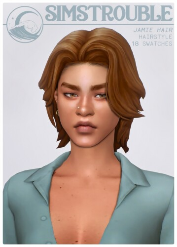 JAMIE hair by simstrouble