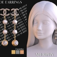 Zoe Earrings by Silence Bradford