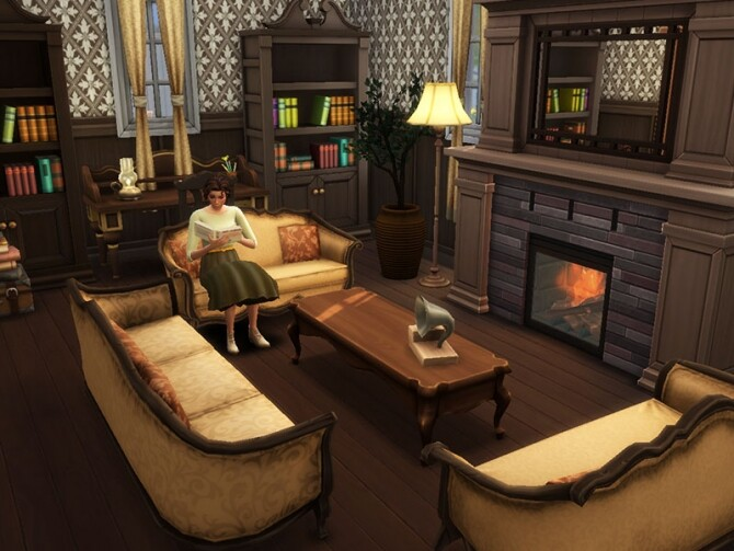 1940s Colonial Family Home by vmr394 at TSR image 2168 670x503 Sims 4 Updates